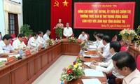 Dirigente partidista se reúne con autoridades de provincia de Quang Tri