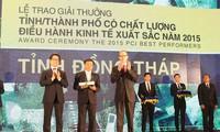 Contribución de las autoridades locales en el alto índice de competitividad alcanzado en Dong Thap