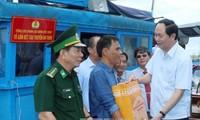 Presidente vietnamita exhorta la ayuda para pescadores de Phu Yen