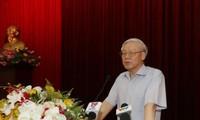 Líder partidista de Vietnam se reúne con funcionarios jubilados del sur