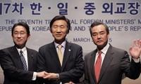 Japón, China y Corea del Sur programan una reunión de cancilleres