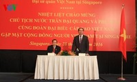 Presidente vietnamita inicia su visita de Estado en Singapur