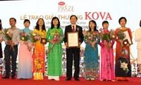 Premio Kova enaltece creatividad y dedicación de estudiantes vietnamitas sobresalientes