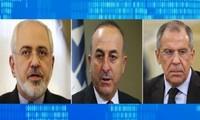 Cancilleres de Rusia, Irán y Turquía conversan sobre situación siria
