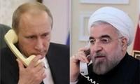 Presidentes de Irán y Rusia conversan sobre la lucha contra el terrorismo