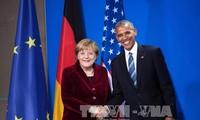 Obama conversa telefónicamente con Merkel antes de abandonar la Casa Blanca