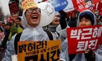 Masiva manifestación en Corea del Sur contra presidenta Park Geun-hye