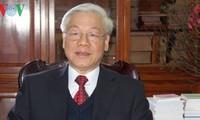 Dirigente partidista de Vietnam urge a cumplir tareas del país con consenso popular