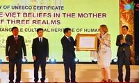 Vietnam recibe certificado de patrimonio cultural de la Unesco al culto de las Diosas Madres
