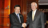 Canciller vietnamita se reúne con secretario de Estado de Estados Unidos