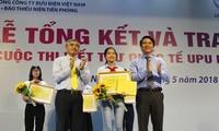 Otorgan los premios del 47 Concurso Internacional de Redacción de Cartas en Vietnam