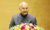 Presidente indio habla ante el Parlamento vietnamita