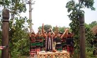 Homenaje a la entrada aldeana, una tradición ancestral de la etnia M'nong