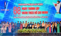 Localidades vietnamitas celebran 88 aniversario de la Unión de Jóvenes Comunistas Ho Chi Minh