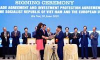 Medios internacionales resaltan la firma del tratado de libre comercio entre UE y Vietnam