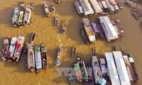 Inauguran jornada cultural-turística del mercado flotante de Cai Rang, en Can Tho