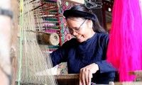 El tradicional arte de tejer de la etnia Tay en Cao Bang