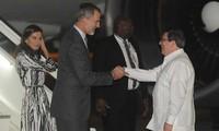 Los reyes de España cumplen visita en Cuba