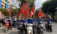 Jóvenes vietnamitas se suman al control del Covid-19