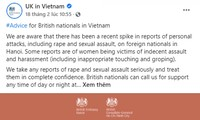 Vietnam promete investigar y tratar los actos en detrimento de los ciudadanos extranjeros