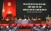 Primer ministro vietnamita se reúne con ciudadanos de Hai Phong