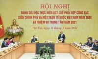 Exaltan la coordinación entre el Gobierno y el Frente de la Patria de Vietnam en el cumplimiento de tareas clave del país