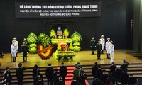 Asisten altas autoridades de Vietnam a los funerales del difunto ministro de Defensa Phung Quang Thanh