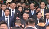 First images of DPRK Chairman Kim Jong-un entering Vietnam