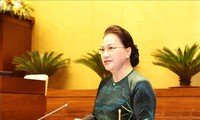 Nguyên Thi Kim Ngân rencontre des délégués du dixième Congrès d'émulation patriotique national