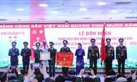 Nguyên Thi Kim Ngân au 45ème anniversaire de l'hôpital militaire 175