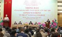 Communiqué officiel sur le 13e Congrès national du PCV aux corps diplomatiques et organisations étrangères au Vietnam
