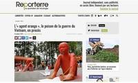 Les médias européens couvrent le procès historique de l'agent orange intenté par Trân Tô Nga