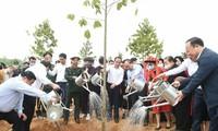 Nguyên Xuân Phuc lance la campagne de plantation d'arbres à Tuyên Quang