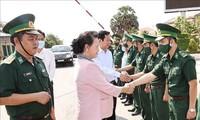 Élections législatives 2021 : déplacement de Nguyên Thi Kim Ngân dans la province de Kiên Giang