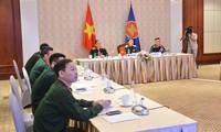 Visioconférence élargie des hauts officiels de la Défense de l'ASEAN