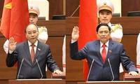 Messages de félicitation des dirigeants laotiens et chinois aux nouveaux dirigeants vietnamiens