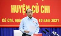 Nguyên Xuân Phuc rencontre l'électorat de Cu Chi