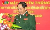 กิจกรรมต่างๆเพื่อฉลองครบรอบ 70 ปีวันก่อตั้งกองทัพประชาชนเวียดนาม