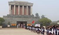 ประชาชนเกือบ 25,000 คน เข้าเคารพศพประธานโฮจิมินห์ที่กรุงฮานอยในช่วงตรุษเต๊ดปีมะแม
