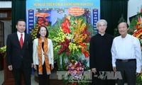 หัวหน้าคณะกรรมการรณรงค์มวลชนส่วนกลางอวยพรคณะกรรมการสามัคคีคาทอลิกเวียดนาม
