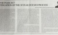 สื่อญี่ปุ่นลงบทความของรัฐมนตรีว่าการกระทรวงอุตสาหกรรมและพาณิชย์เวียดนามเกี่ยวกับเอเปก 2017