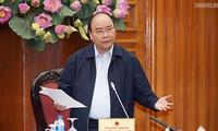 นายกรัฐมนตรีเป็นประธานการประชุมเกี่ยวกับมาตรการผลักดันการผลิตและประกอบธุรกิจ