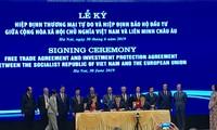 พิธีลงนามข้อตกลงเอฟทีเอและไอพีเอระหว่างเวียดนามกับสหภาพยุโรป
