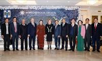ประธานสภาแห่งชาติเวียดนาม เหงียนถิกิมเงิน เข้าร่วมการประชุมครบองค์ของวุฒิสภาสหพันธรัฐรัสเซีย