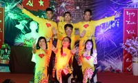 นักศึกษาเวียดนามในประเทศกัมพูชาและชมรมชาวเวียดนามในประเทศออสเตรเลียต้อนรับปีใหม่ 2020