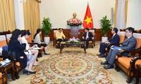 รองนายกรัฐมนตรีฝ่ามบิ่งมิงห์ให้การต้อนรับเอกอัครราชทูตไทย ณ กรุงฮานอยเนื่องในโอกาสเสร็จสิ้นการปฏิบัติหน้าที่