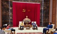 เลขาธิการพรรคสาขากรุงฮานอยให้การต้อนรับเอกอัครราชทูตไทยณกรุงฮานอย