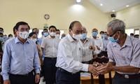 ประธานประเทศและผู้ลงสมัครรับเลือกตั้งผู้แทนสภาแห่งชาติหาเสียงเลือกตั้งในนครโฮจิมินห์