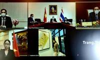 การหารือทวิภาคีทางไกลระหว่างรัฐมนตรีว่าการกระทรวงวัฒนธรรมของไทยกับรัฐมนตรีว่าการกระทรวงวัฒนธรรม กีฬา และการท่องเที่ยวเวียดนาม