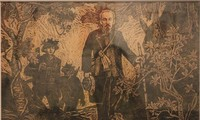 ภาพวาดที่น่าประทับใจเกี่ยวกับประธานโฮจิมินห์